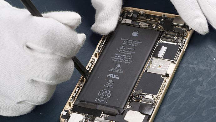 Battery replacement smartphone