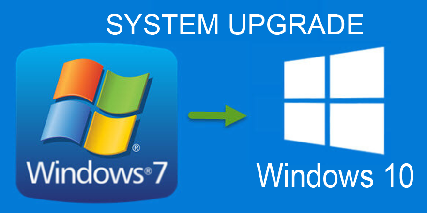 Windows 7 auf 10 Update